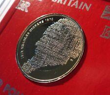 2012 Author Charles Dickens Bimetallic £2 GB Commemorative Coin BU in Gift Case