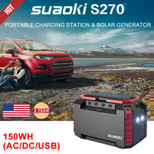 150Wh Portable Solar Generator Charger Power Station Power Supply Jump Starter