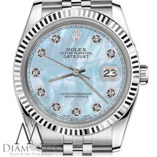 Rolex 26mm Datejust Baby Blue MOP Mother Of Pearl Diamond Stainless Steel Watch