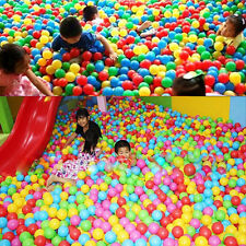 50x Secure Ocean Balls Baby Kid Toys Swim*Pool Fun Play Colorful Soft Plastic FC