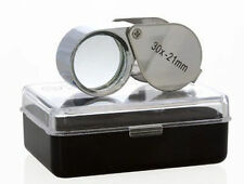 30 x 21mm Jewelry Eye Loupe Magnifier Loop Glass Tool for Diamond Coin From USA