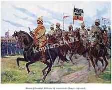 Gerlach Schutztruppe China GFM Waldersee Fahnen Truppenparade Shanghai Sikh 1900