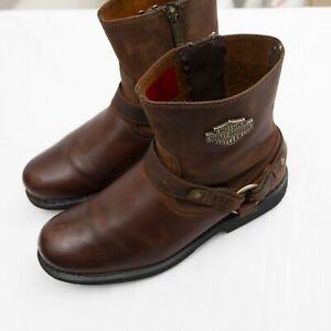Harley Davidson Motorcycle Leather Boots Size 10.5M