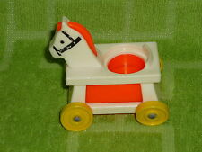 Fisher Price Little People Vintage Nursery Ride On Red - Orange Horse