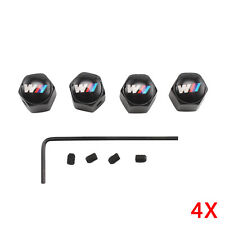 4pcs/Set BMW M SPORT M POWER Metal Chrome Tyre Valve Dust Cap