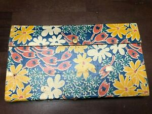 Vintage Dixon Pencil Box with Contents and Figural Erasers