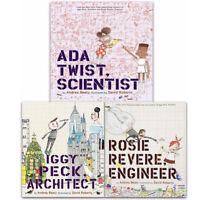 Andrea Beaty Collection Iggy Peck Architect 3 Books Set Rosie Revere Engineer