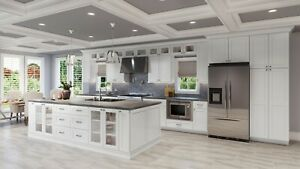RTA Wood 10X10 Modern Modern Shaker White Kitchen Cabinets Lifetime Warranty