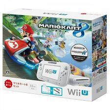 New Wii U Mariokart8 set White Nintendo 32GB pack WiiU console mario kart 8