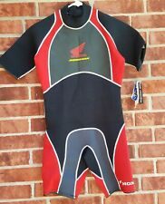 Honda Aquatrax Slippery Short Wetsuit Men's Size Medium Black/Red