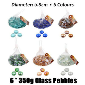 2.1Kg Glass Pebbles Decorative Stones Aquarium Fish Tank Gravel Marble Beads