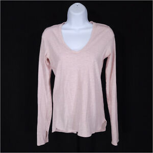 Lululemon Circadian Long Sleeve Tee Top Pink Women's 2 - 4 V-Neck Pima Cotton