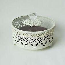 White Ivory Small Antique Vintage Jewelry Box Organizer Ring Case Jewel Storage