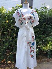 BNWT Zara White Embroidered Flower Midi Dress. Size S 10 $179