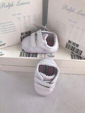 Ralph Lauren Baby Girls Slater Ez Crib Shoes Sneakers Trainers UK 1.5