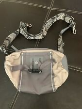 """Lululemon The Pedal Pushers Bag .10""""x5""""x5"""" .Dune/Fossil Gray Silver."""