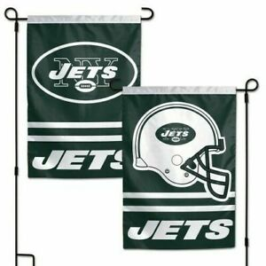 NY Jets Garden Flag New York 2 Sided Outdoor Window Yard Banner New Man Cave