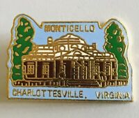 Monticello Charlottesville Virginia Souvenir Pin Badge Rare Vintage (A4)