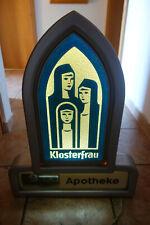 Leuchtreklame + Klappzahlenuhr  Klosterfrau Melissengeit Apotheke 1970er
