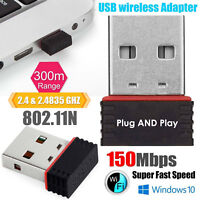 150 Mbps Mini USB WiFi Dongle 802.11B/G/N Wireless Network Adapter for Laptop PC