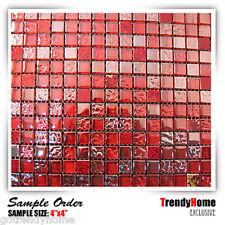 Sample Glass mosaic tile Red Wall kitchen backsplash wall bathroom shower Shower