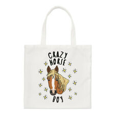 Crazy Horse Boy Stars Regular Tote Bag Funny Animal Shopper