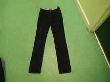 "Per Una Slim Leg Jeans Size 10L Leg 32"" Black Faded Ladies Jeans"