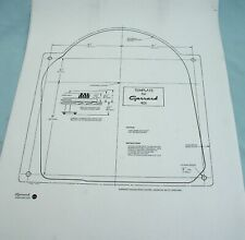 GARRARD 401 MOUNTING TEMPLATE - A HIGH QUALITY PERFECT COPY