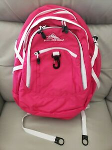NWT High Sierra Fatboy Tech Backpack Pink Water Repellent Free Shipping!