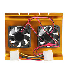 "3.5"" Hard Drive Disk HDD 4 Pin Cooling Fan Cooler Radiator for PC SATA IDE Dual"