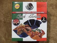 "Quick Taco/Tortilla 2 pieces/pans (metal) - dishwasher safe - 2.6"" x 6.8""  - NEW"
