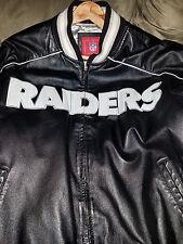Oakland Raiders Leather Jacket Large