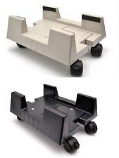 Adjustable Desktop Computer Stand / Trolley Locking Swivel Wheels / Mobile PC