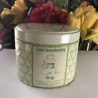 Vintage 1970s Good Housekeeping Canister Tin Metal Round CHEINCO-J.CHEIN & CO.
