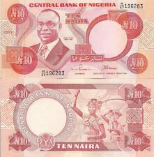 Nigeria P25g, 10 Naira, Alvan Ikoku / milk maids with jugs on head, UNC 2003