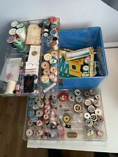 Vintage Sewing Supplies Thread Buttons Tape Measures Razor Coats Corticelle