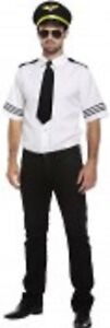 Men's Adult airline Pilot- fancy dress outfit- New- made by Henbrandt