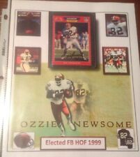 Ozzie Newsome on card Auto HOF '99 Cleveland Browns