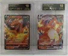 Set Pokemon Card Starter Deck Charizard VMax & Charizard V BGS Black Label
