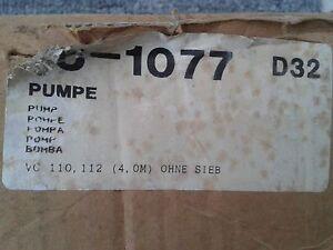 Vaillant Pumpe 16-1077 neu aus Lagerbestand für VC 110 / 112
