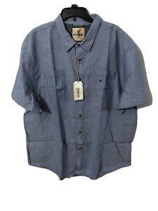Outdoor Life Big Men Lakeside Shirt 3X Blue Horizon