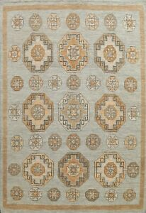 Modern Geometric Gabbeh Oriental Area Rug Hand-knotted Living Room Carpet 8'x10'