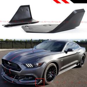 For 15-2020 Ford Mustang MD Style Front Bumper Corner Spoiler Winglet Splitters