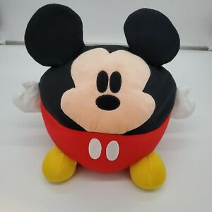 """Disney World Official Ball Round Bean Filled Mickey Mouse Plush Pillow 12"""""""