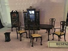 Doll House Bespaq 8 Pc Finest Quality Hand Painted Dining Set TOP OF BESPAQ LINE