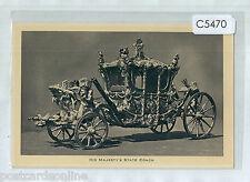 C5470cgt UK Royalty His Majesty's State Coach Tucks vintage postcard