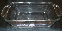 Vintage Anchor Ovenware 1041 Glass Loaf Dish  Pillsbury Dough Boy 9 x 5 FREE S/H