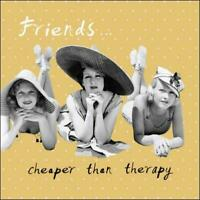 Friends Cheaper than Therapy Retro Humour Birthday Card Funny Greeting Cards
