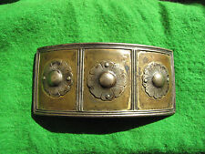 Antique bronze with silver flower belt Buckle women Cultures Ethnicities RARE