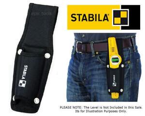 STABILA Black Nylon Scaffold Scaffolders Spirit Level Belt Holder Tool Pouch